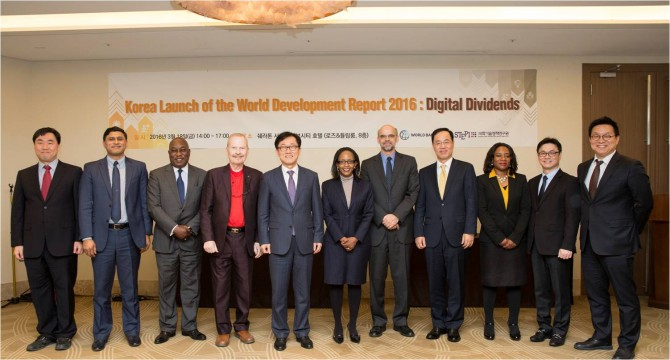 Korea Launch of the World Development Report 2016 : Digital Dividends